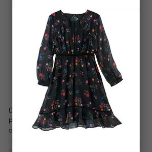 Disney Coco black floral dress